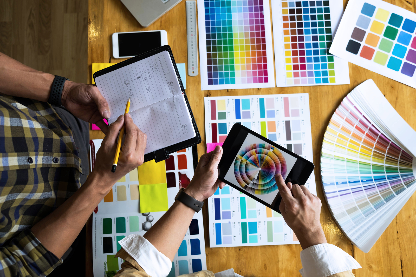 bigstock-Graphic-Designers-Use-The-Tabl-250851259